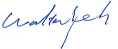 Walter Yeh signature